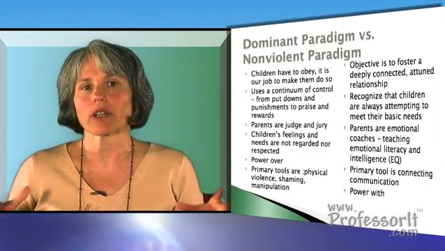 Parenting Advice On Video – Dominant vs Nonviolent Paradigm