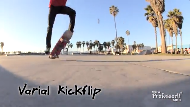Skateboarding Tricks 10: Varial Kick Flip