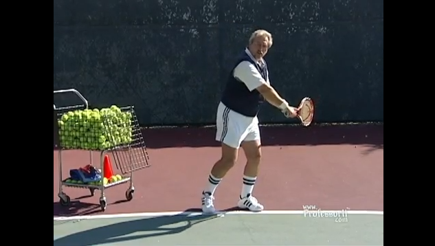 Tennis Lessons On Video Episode 19 Backhand Topspin Drive 2 Hand Grip