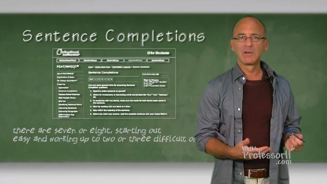 SAT Prep – Sentence Completions